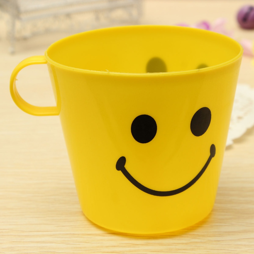 Smiley Face Coffee Mug 6 Plastic Colorful Happy Smiley Mugs Cups With Handle Home Party