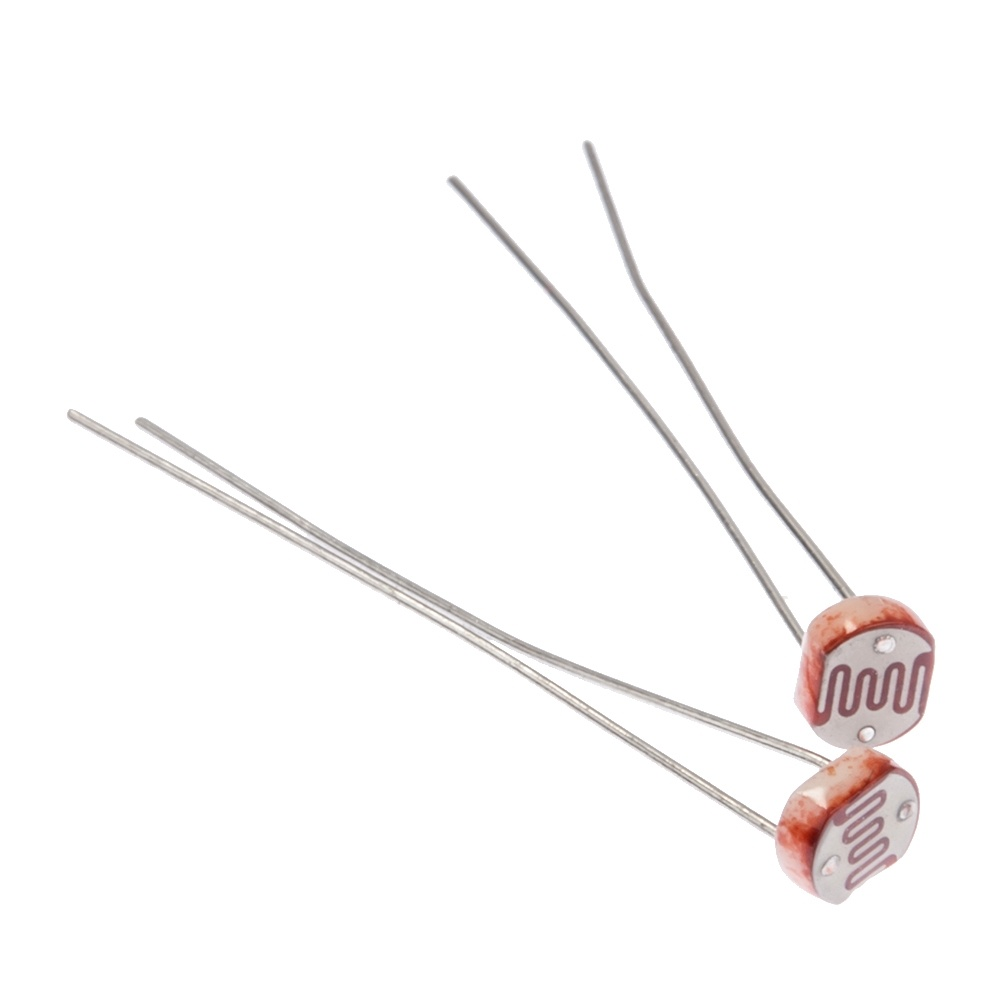 Cyber 20pcs 5mm Photo Light Sensitive Resistor Photoresistoroptoresistor Gl5537 New 3838417 on led wall clock