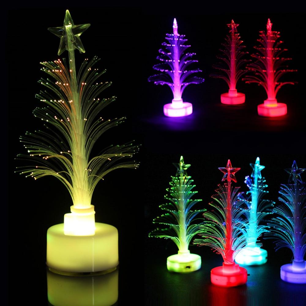Desktop Multi Color Twinkling Led Crystal Christmas Tree
