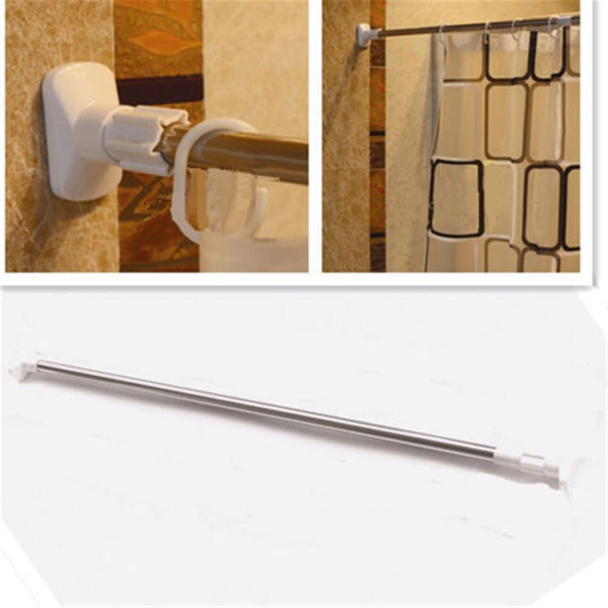 stainless steel adjustable tension door bathroom shower curtain