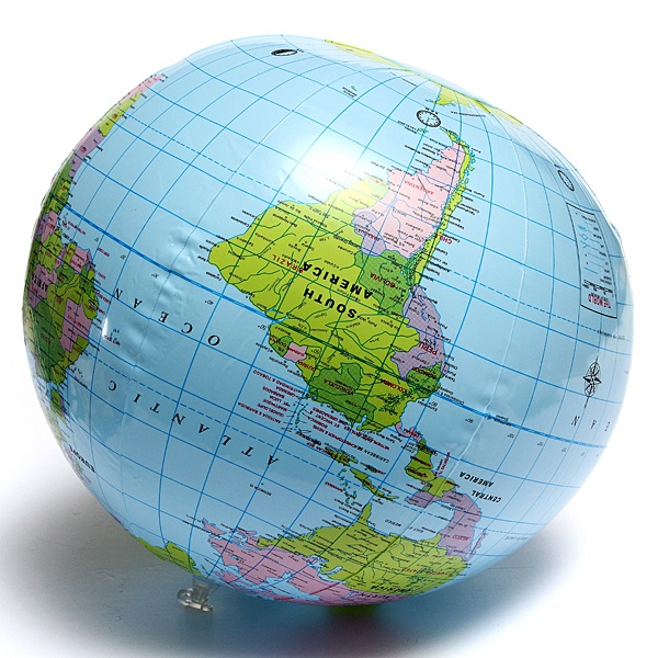Inflate inflatable earth tellurion world globe map pool beach ball image gumiabroncs Choice Image
