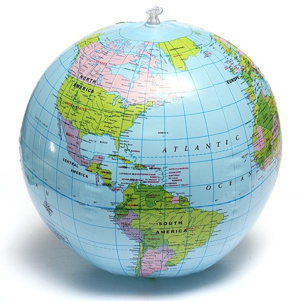 Inflate Inflatable Earth Tellurion World Globe Map Pool Beach Ball