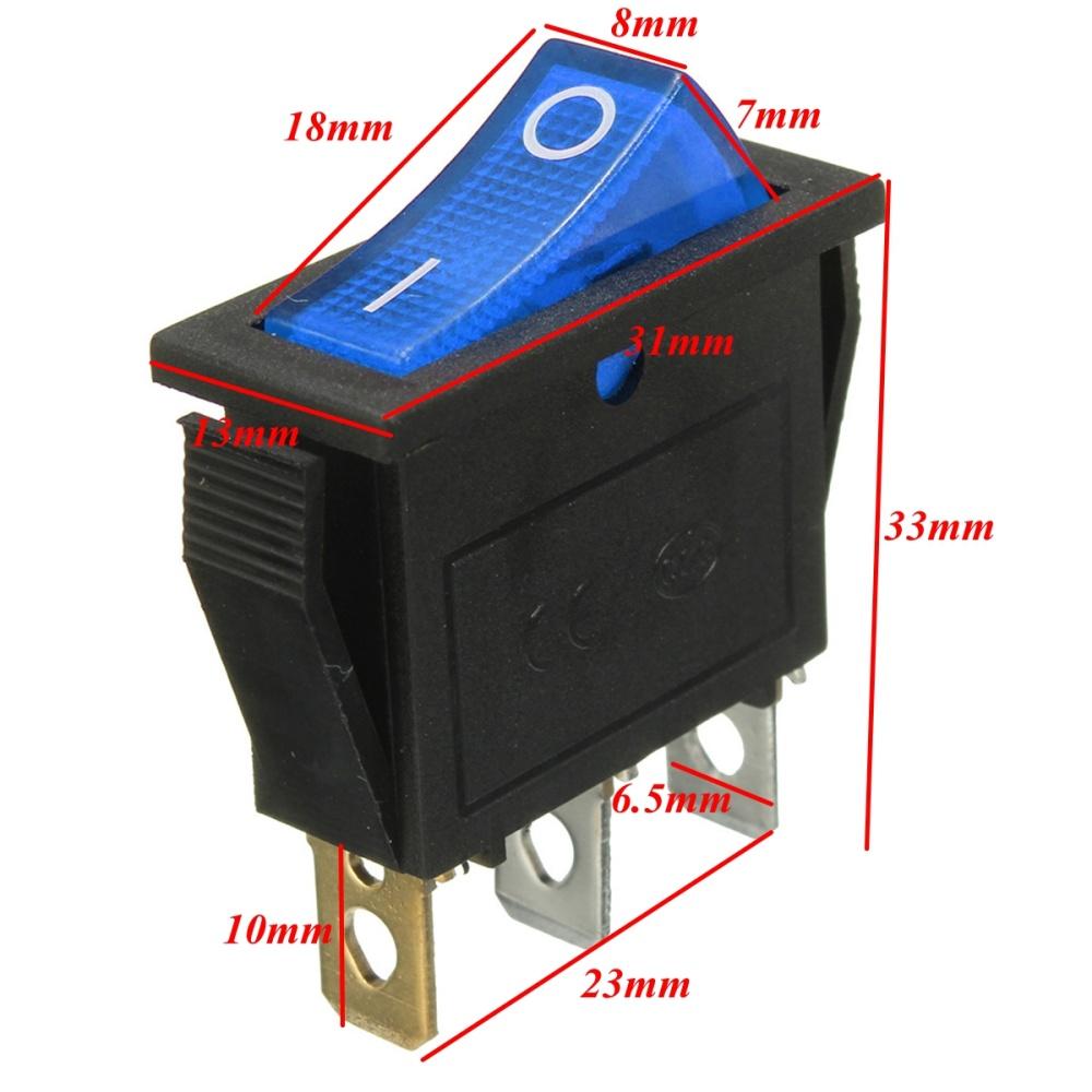 freebang 3 broches on off led spst interrupteur puissance. Black Bedroom Furniture Sets. Home Design Ideas