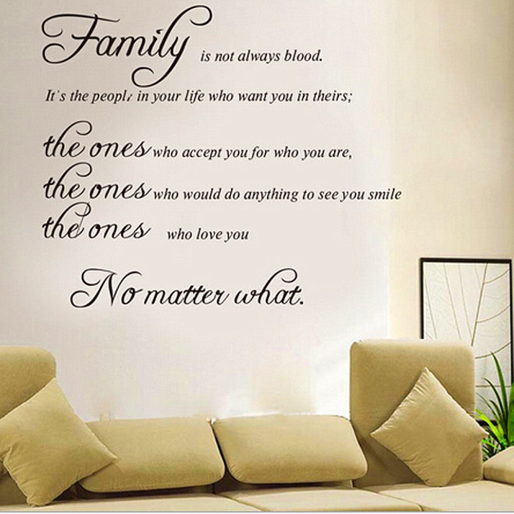 removable family quote wall sticker decal mural diy living