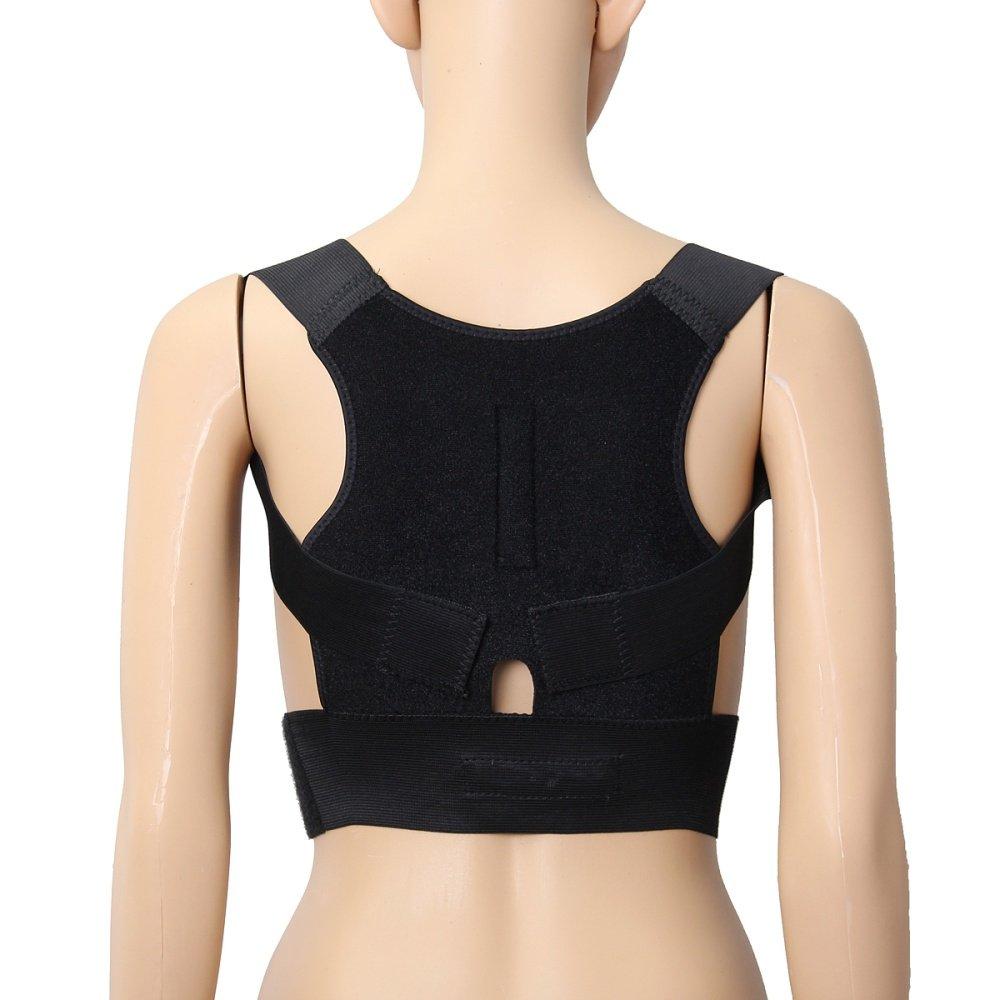 Posture Corrector Magnetic Back Shoulder Brace Belt Adjustable Source image .