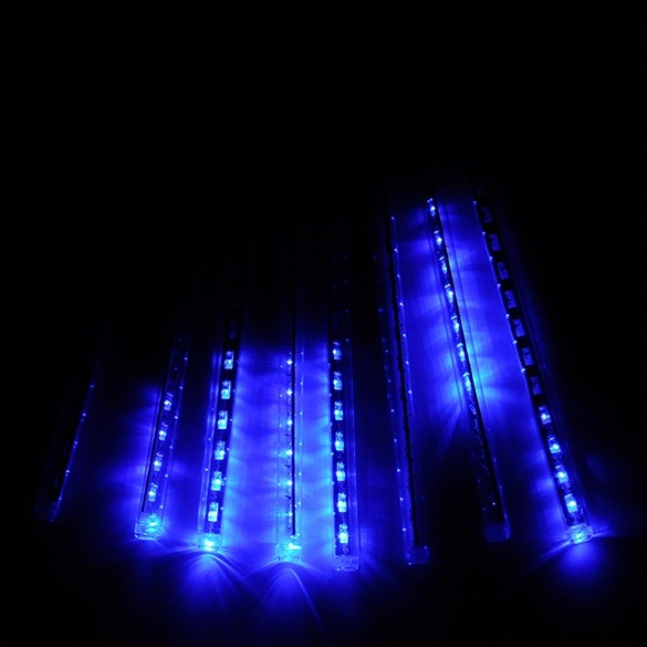 Cyber 50cm meteor shower rain tubes led light for for 57in led lighted peacock outdoor christmas decoration