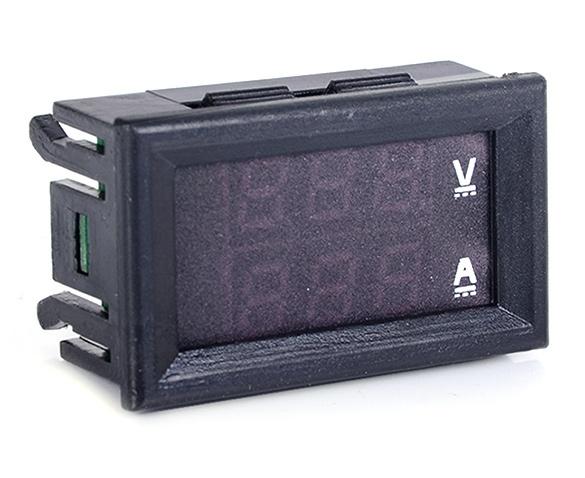 Digital Ammeter Panel Mount : Supercart dc v a dual digital voltmeter