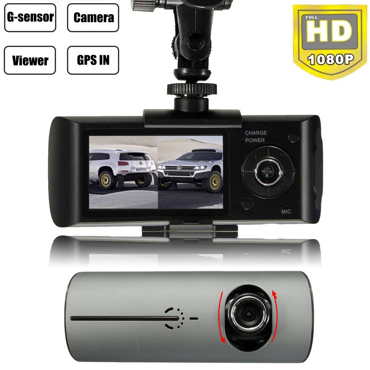 Dual Lens CDVRK400 Car Dash Camera With GPS Logger And G