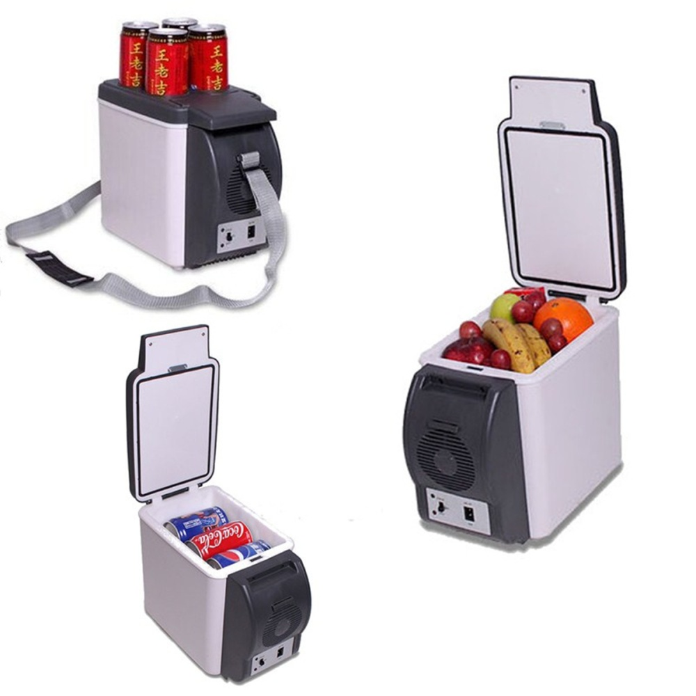 Car fridge mini refrigerator travel portable cool cooler Can you put hot food in the refrigerator