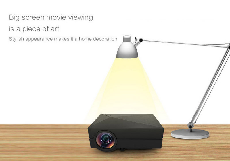 Lhr gm60 hd home theater mini portable projector white for What s the best pocket projector
