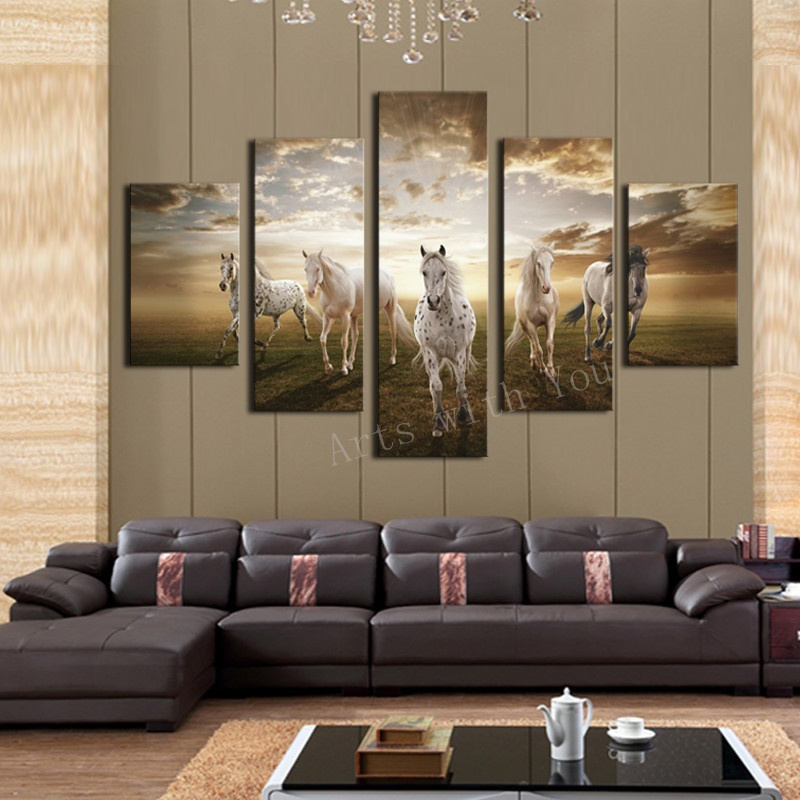 High quality cheap price art pictures running horse large - Home interior horse pictures for sale ...