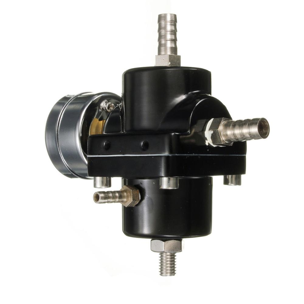 universal black fuel pressure regulator with gauge 140 psi adjustable lazad. Black Bedroom Furniture Sets. Home Design Ideas