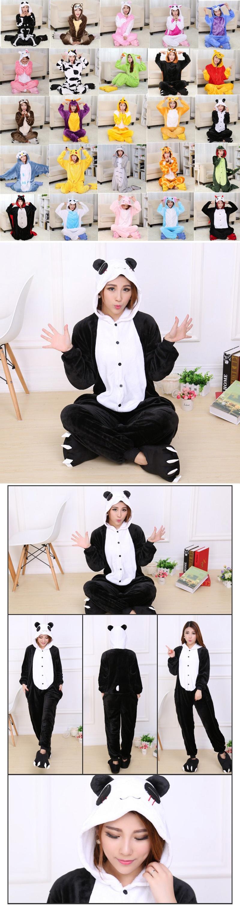 524fa73d3a Specifications of GETEK Panda Adult Unisex Pajamas Cosplay Costume Onesie  Sleepwear S-XL (Black+White)