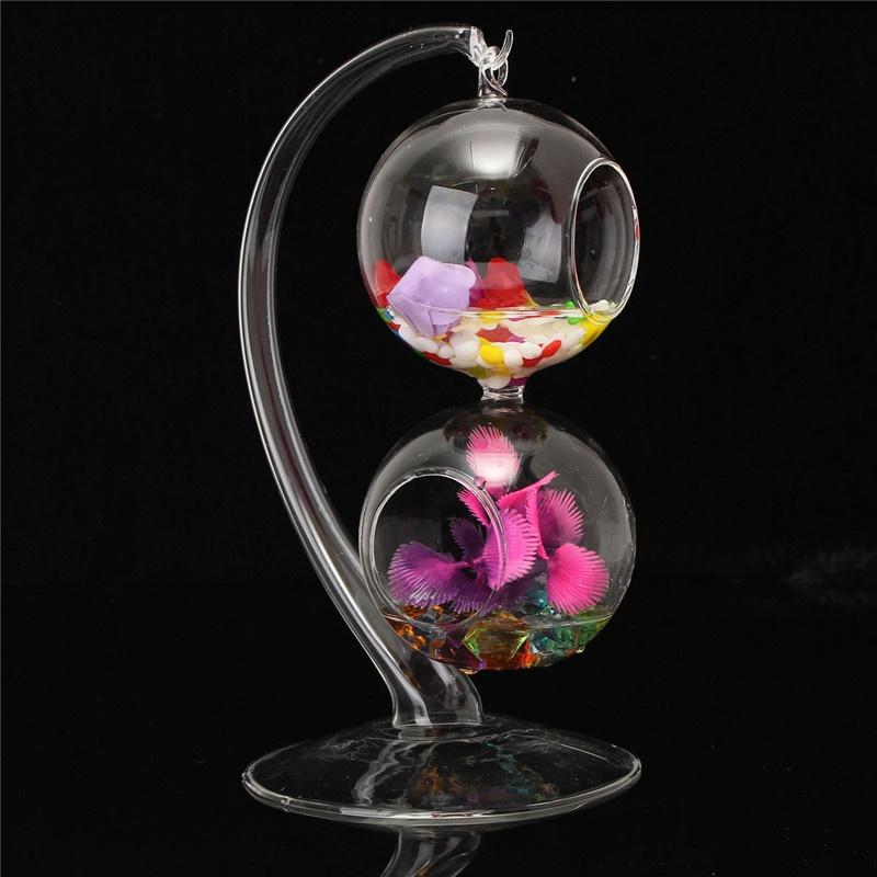 Home decor hanging ball glass terrarium vase flower for Decor 9 iball