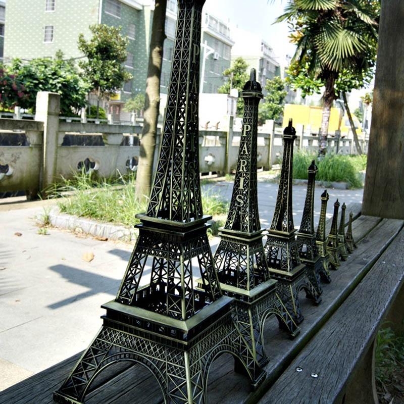 Vintage Paris Eiffel Tower Figurine Home Decor 18cm