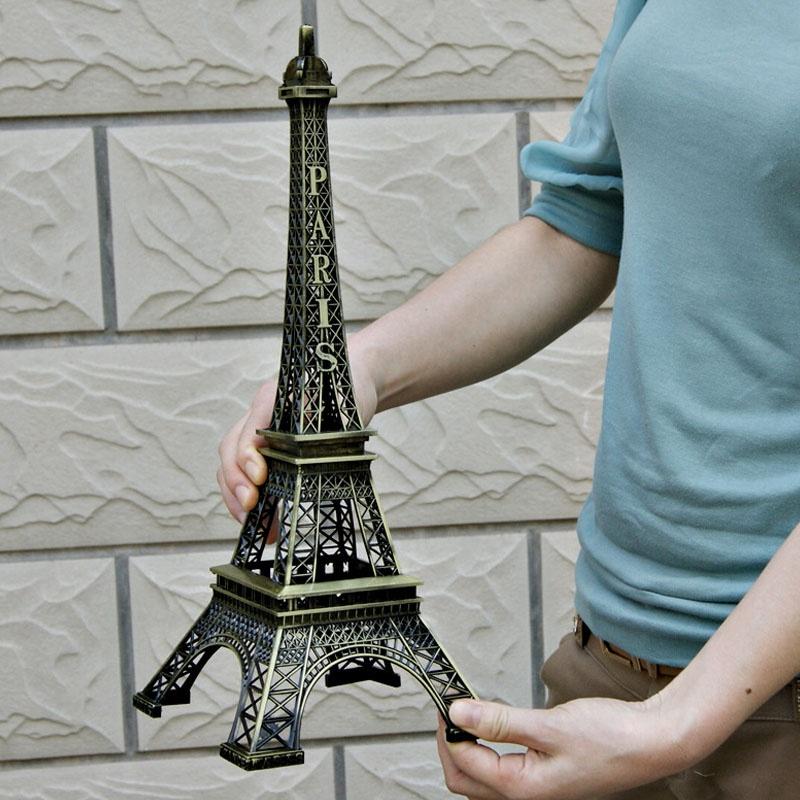 Vintage paris eiffel tower figurine home decor 18cm for Eiffel tower decorations for the home