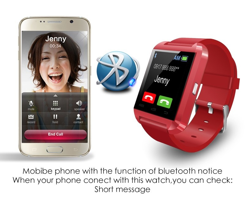 KingDo U8 Bluetooth Smart Watch (Black)