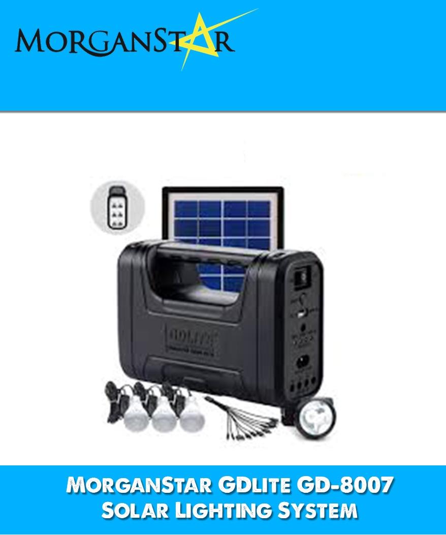 Solar Lights Lazada: MorganStar GDlite GD-8007 Solar Lighting System (Black