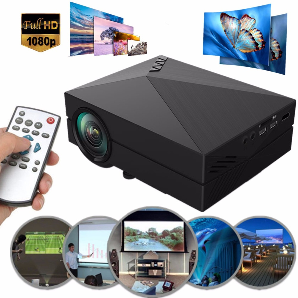 Mini portable hd led projector home cinema theater lazada ph for Pocket sized hd projector