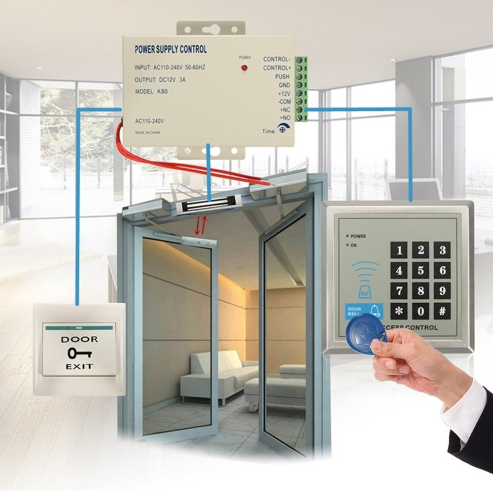 rfid kit electric door lock magnetic access control id