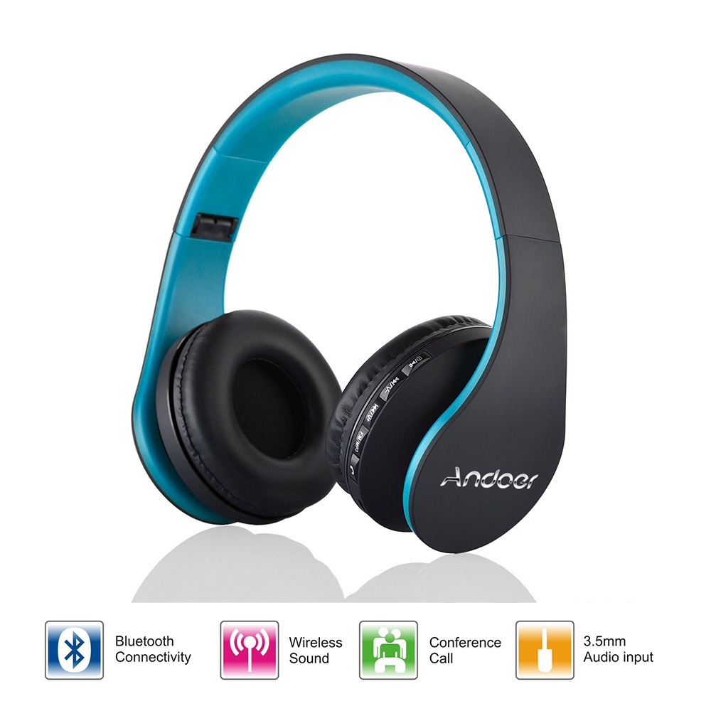 andoer lh 811 wireless bluetooth noise cancelling headset gold lazada ph. Black Bedroom Furniture Sets. Home Design Ideas