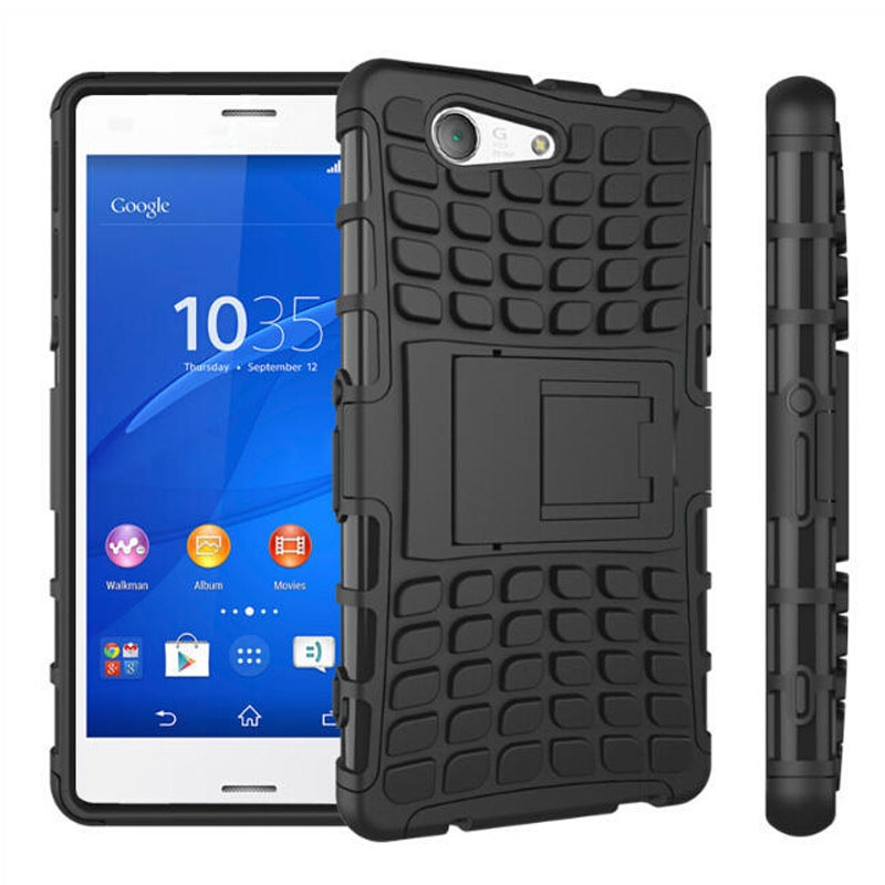 sony xperia z3 compact. Hybrid Hard Case Grip Armor Cover Stand For Sony Xperia Z3 Compact Mini