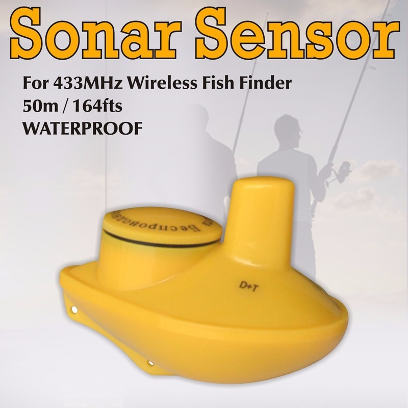 Ff718s wireless remote sonar sensor for ffw 718 lucky fish for Lucky fish finder