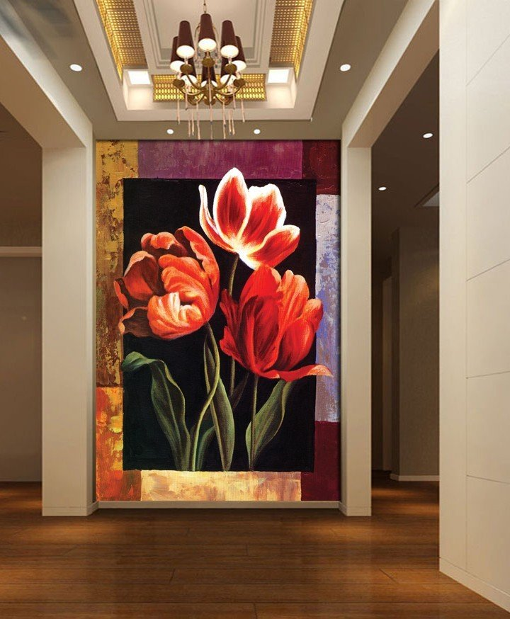 3d european oil painting flowers hot sell sunrise modern for Decor 2 sell