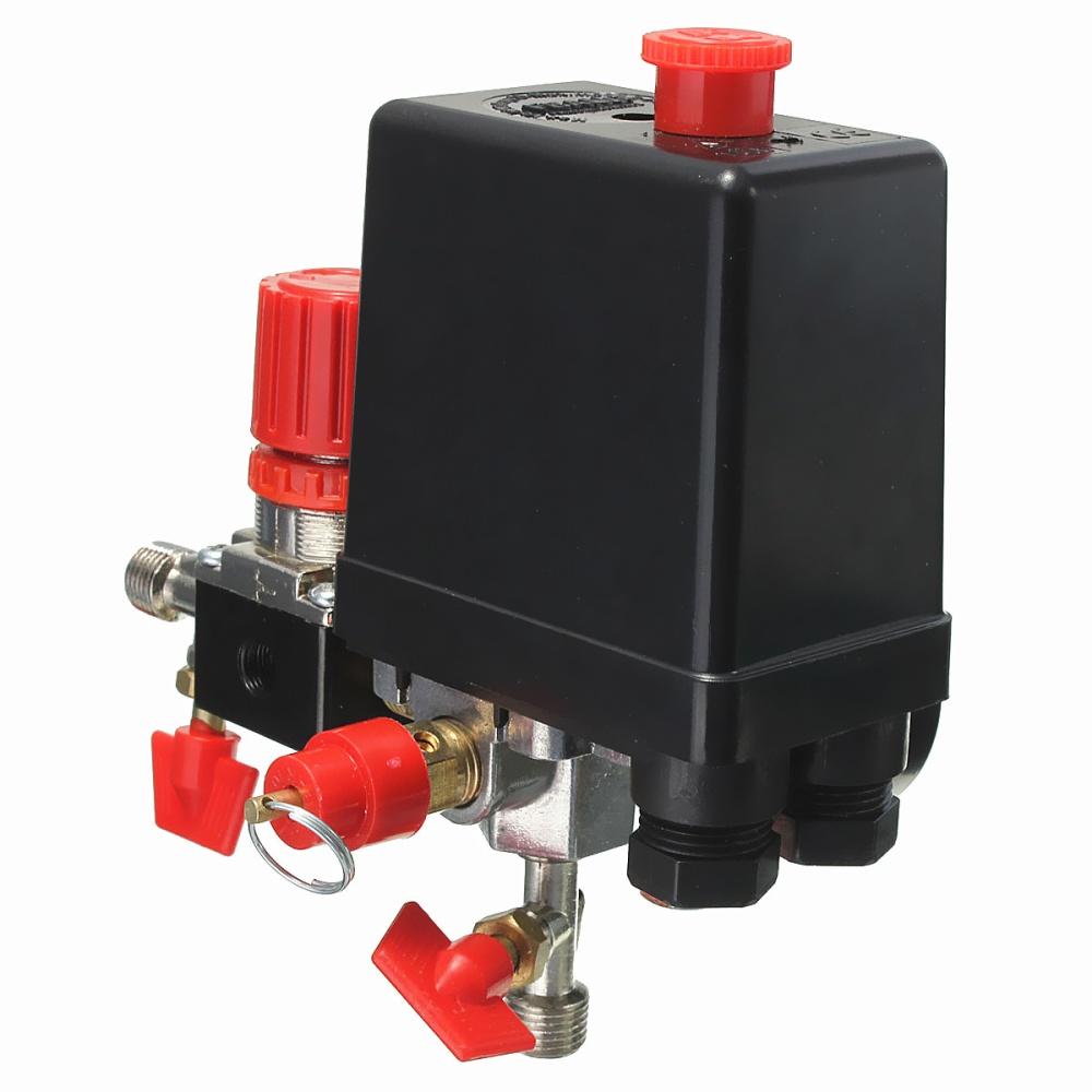 180PSI Air Compressor Pressure Valve Switch Manifold