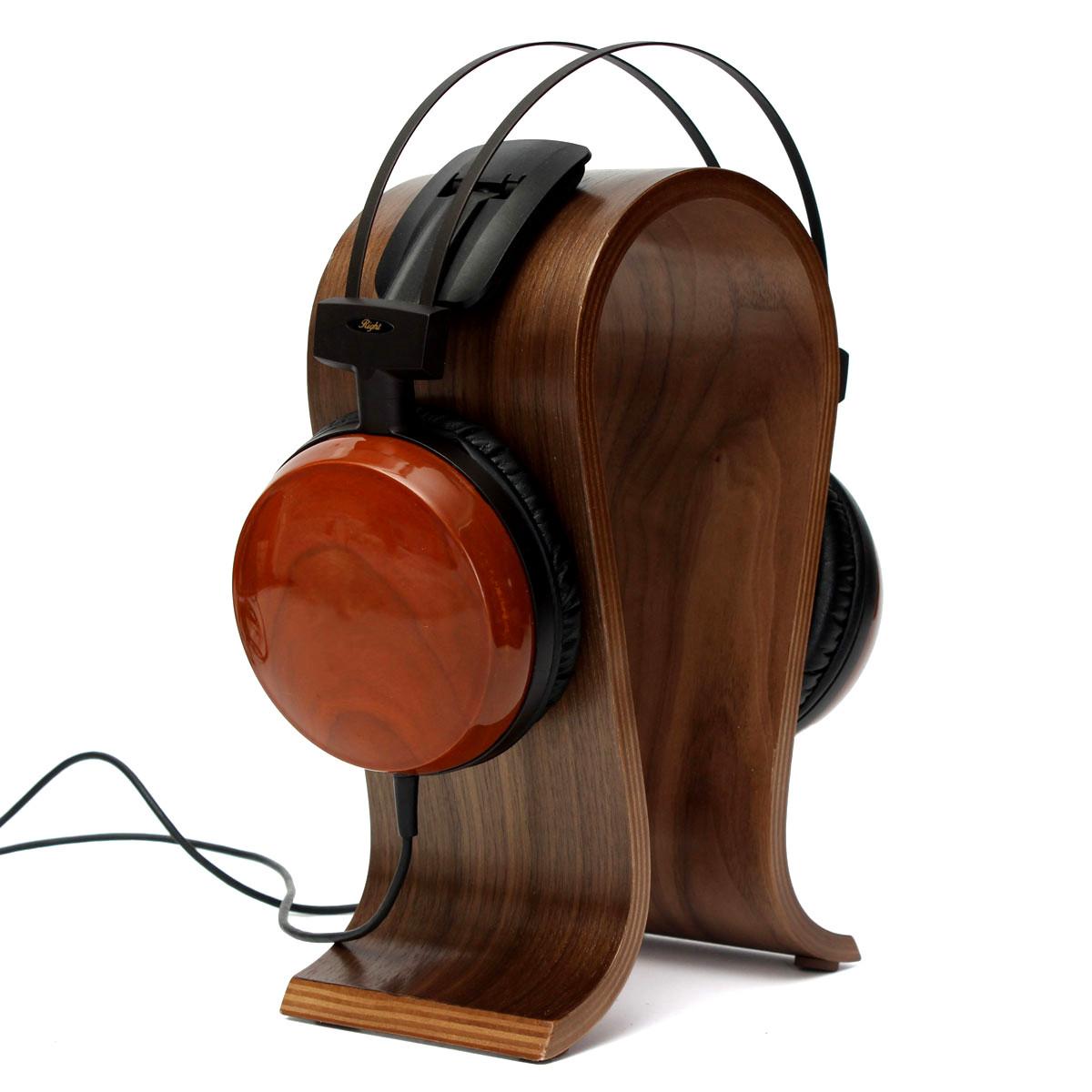Solid wooden headphone stand hanger holder display rack brown lazada ph - Wooden headphone holder ...