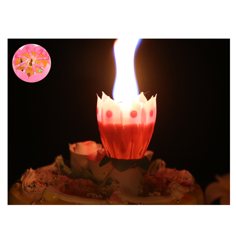 Philippines anself magical lotus flower musical candle happy this candle is designed with a beautiful lotus flower shape it can automatically light little surrounding candles after light the pistil then the flower izmirmasajfo