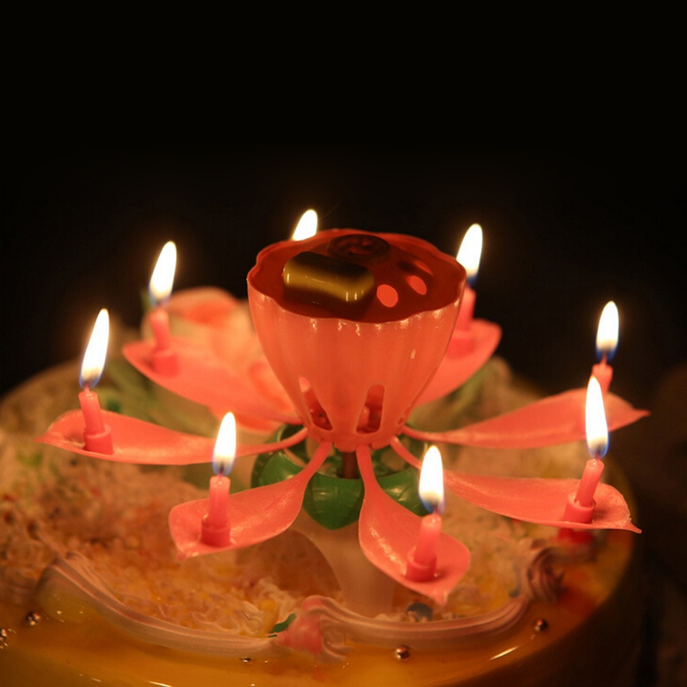 It Can Automatically Light Little Surrounding Candles After The Pistil Then Flower Would Open Coming With Wonderful Happy