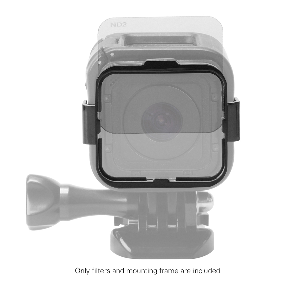 This ND filter set is suitable for GoPro Hero4 Session, great for shooting moving figures and outdoor scenes in strong sunlight.