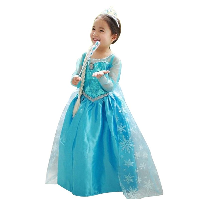 Rorychen Baby Kids Girls Snow Prints Princess Ball Gown Dress ...