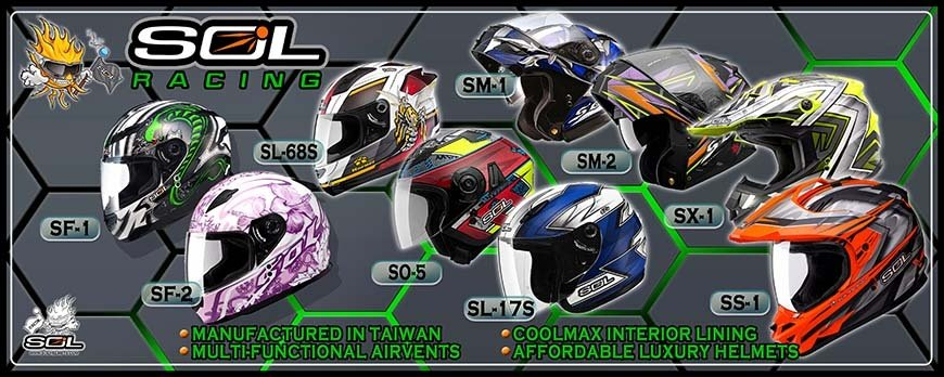 SOL PREMIUM MOTORCYCLE HELMETS INTERNATIONAL