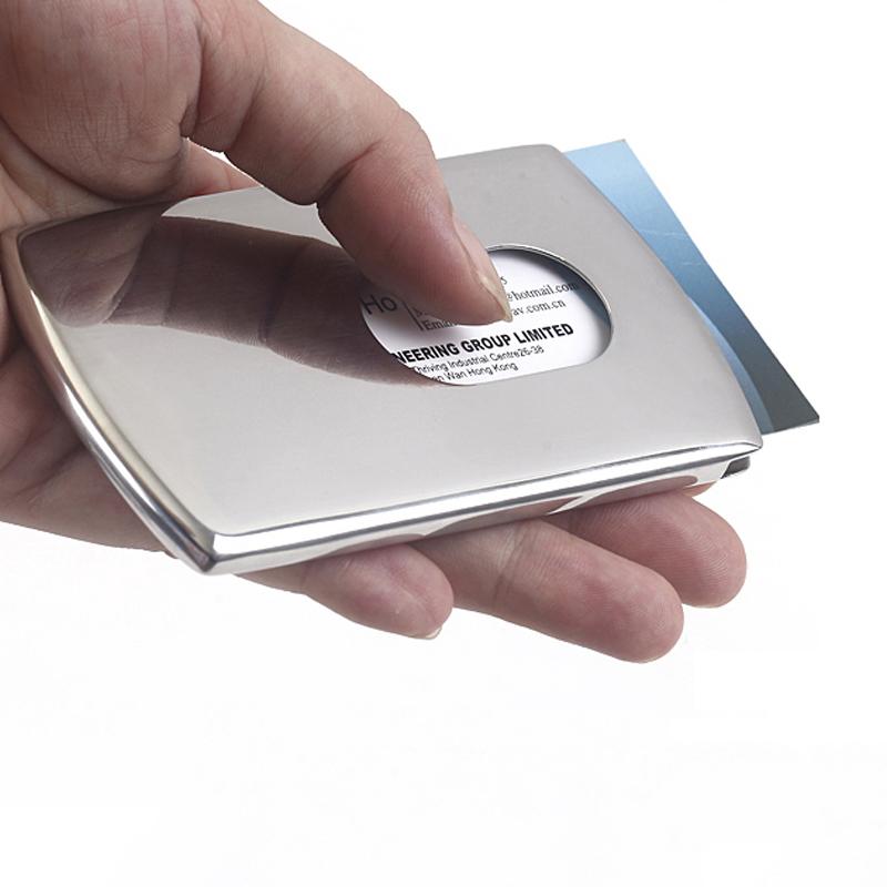 Business Card Holder Stainless Steel Pocket ID Credit Card Holder ...