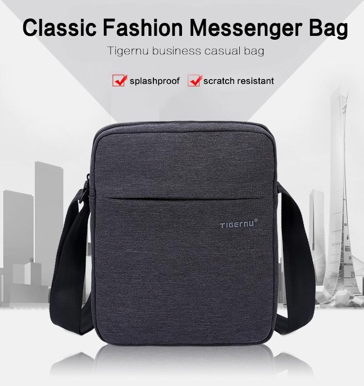 Specifications of Tigernu Men Messenger Bag Waterproof Shoulder Bag Business Travel Casual Bag5102(Black Grey)