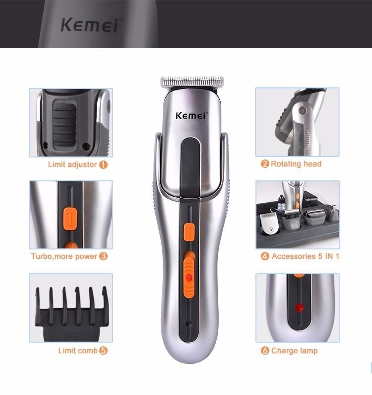 Kemei km 680a rechargable hair clipper trimmer haircut set for A b salon equipment