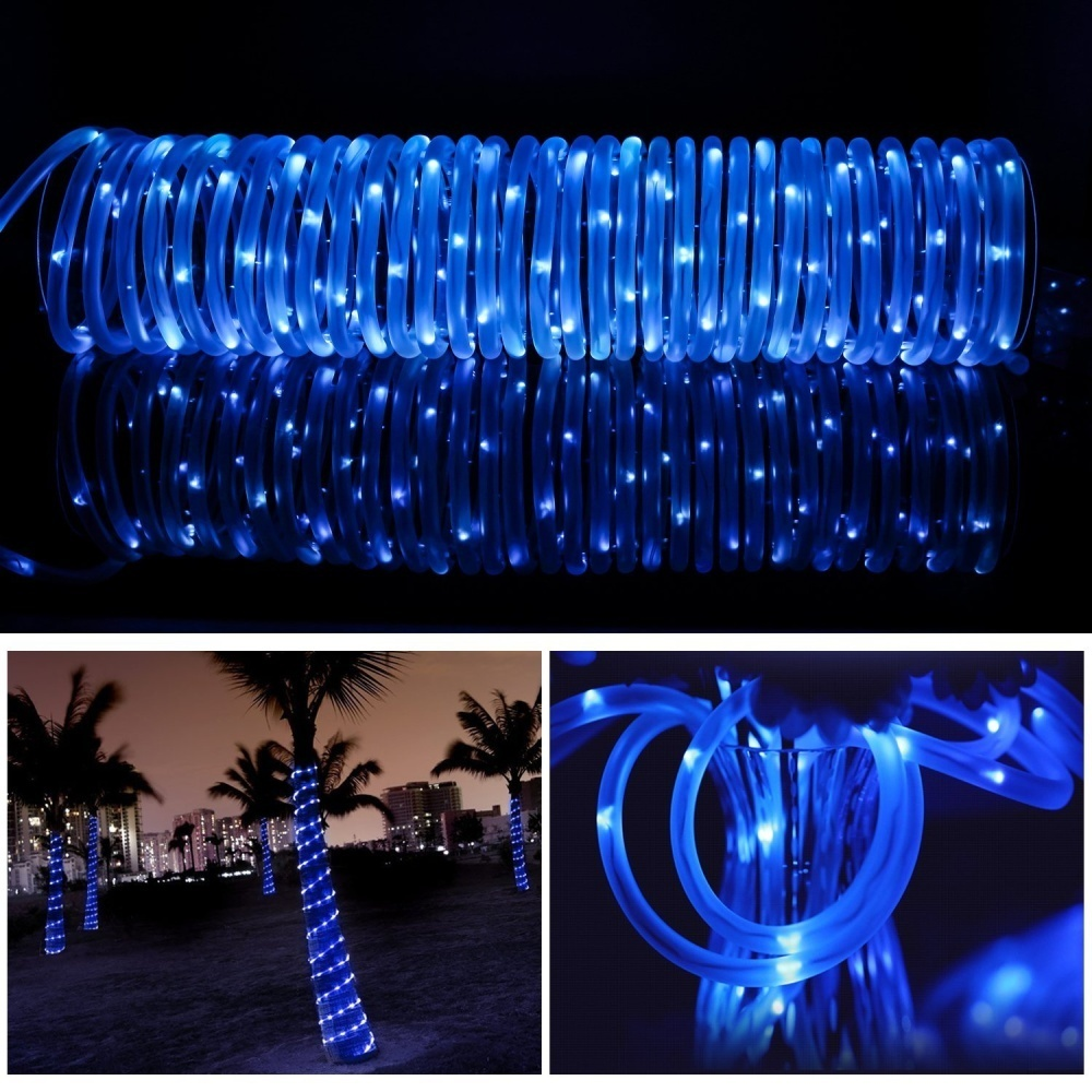 Rope lights lte solar 100 led tube lights outdoor waterproof failure to follow this may result in product damage the solar lights should be fully charged by direct sunlight for 6 8 hours before initial use aloadofball Images