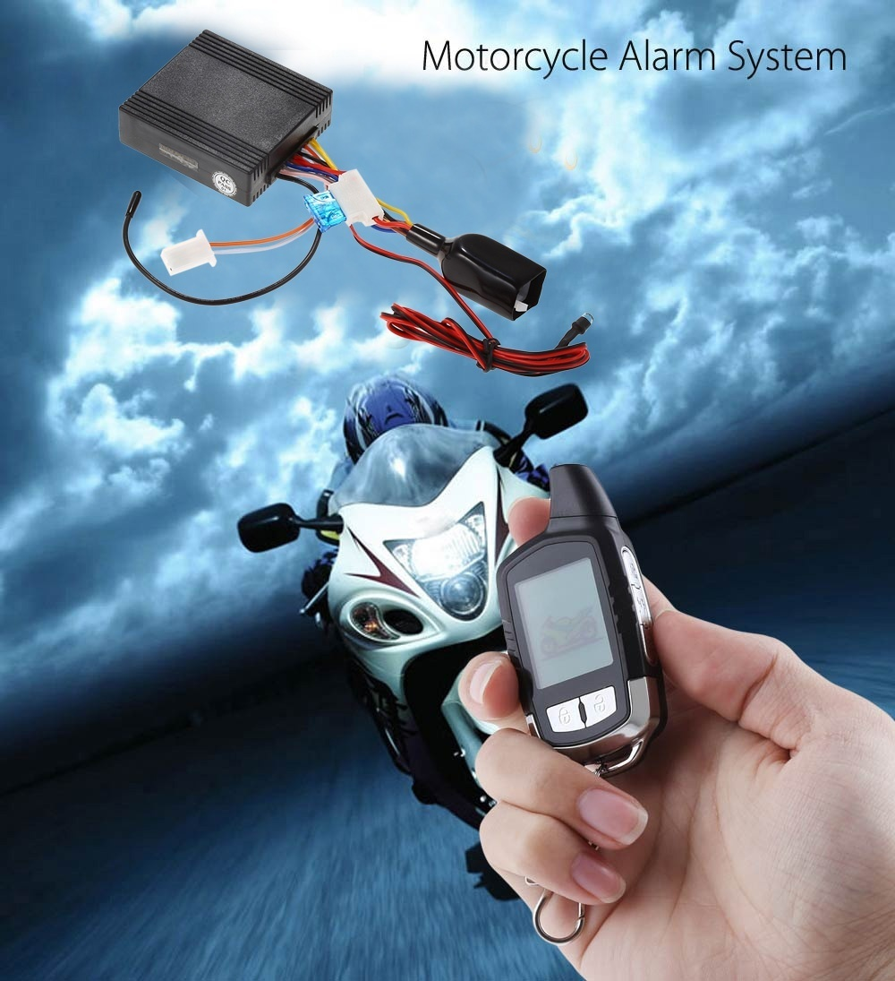 NT - MS002 Water Resistance Two Way LCD Motorcycle Anti-theft Security Alarm System