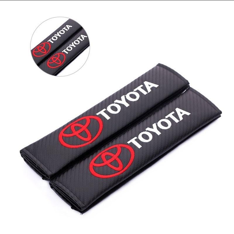 1 Set 2pcs Carbon Fiber Racing Sports Style Car Seat Belt Cover Shoulder Pads for GTI