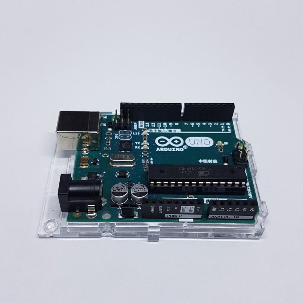 Original arduino uno with free acrylic base and