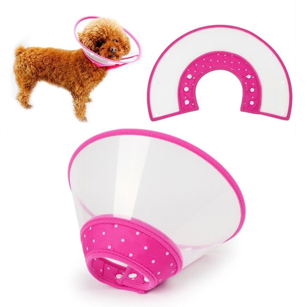 Pet Dog Cat Collar Ruff Funnel Cover Anti Bite Lick Safety Practical Neck Plastic Protective
