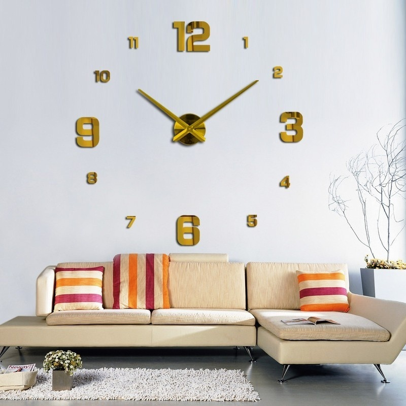 creative designs mirror wall clock large. Clock machine  12cm 4 9 Battery 1 5V AA battery piece without Number Size 16cm The minimum achieving is 63cm x 24 8 Creative Wall Stickers Modern DIY Large 3D Acrylic Mirror