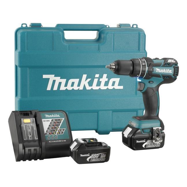 Makita Dhp480rfe Cordless Hammer Drill 1 2 Quot 18v Lxt Kit