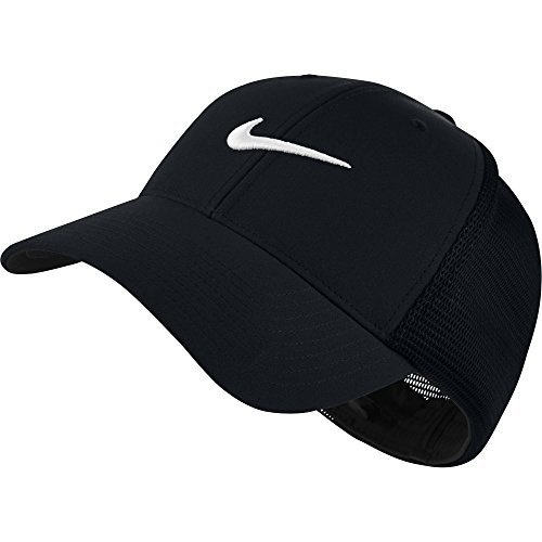 49d61f66 NIKE Unisex Legacy 91 Tour Mesh Cap, Black/Black/White, Medium/Large ...