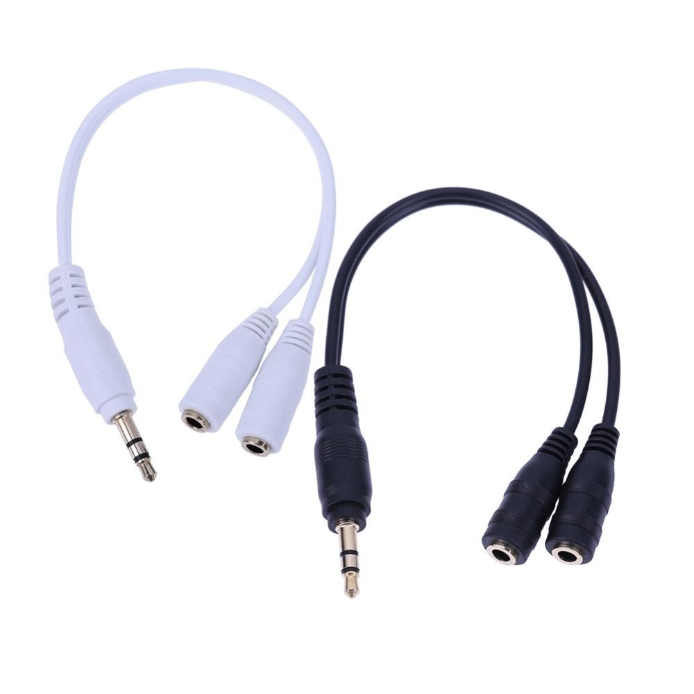 Usams 35mm 2 In 1 Y Splitter Adapter Audio Aux Cable Stereo Mic Promotionshop For Promotional Mono On Aliexpress Wiring Xlr Female Extension Wire Color Black