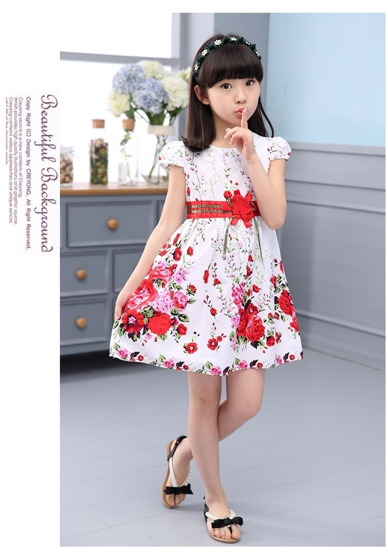 Specifications of Princess Party Dresses For Girls Wedding Dresses Floral Print Kids Prom Dresses Summer Children Sundress 2 3 4 6 8 9 10 12 Years - intl