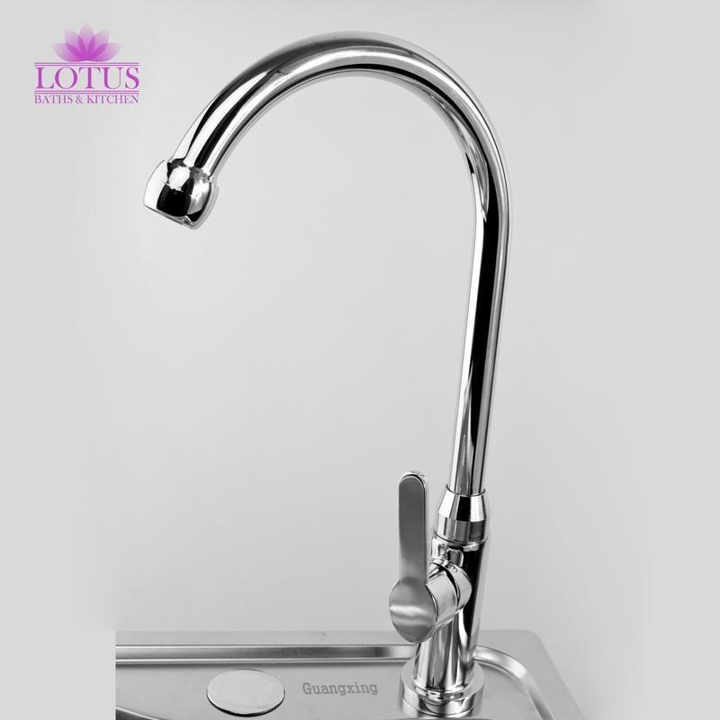 Lotus Elegant Stainless Steel Kitchen Sink Goose Neck Water Tap ...