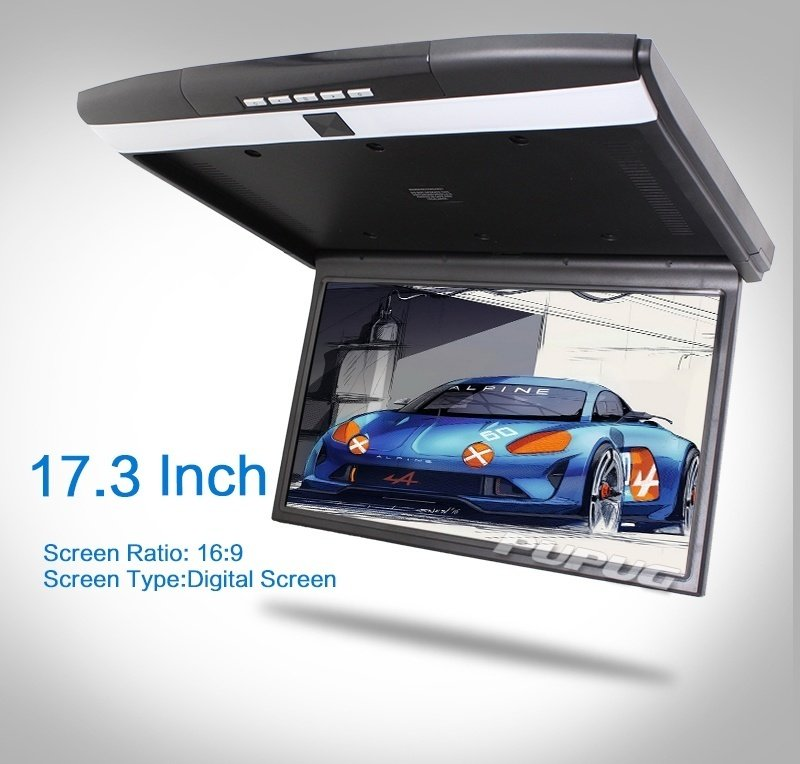 HD 17 inch Digital TFT Monitor Car Roof Mount Display for